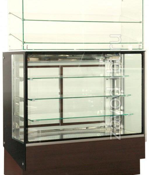 Стеклянная надстройка для горизонтальной витрины