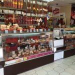 Центральный рынок г. Новороссийск Витрины Эконом 1,4 и 1,9 и ВВ- 1000 купе кондитерский, цвет темно коричневый